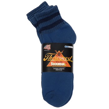 CoolMax Blue Ankle 3-Pack - Small