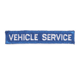 VEHICLE SERVICES EMBLEM BLUE/WHITE