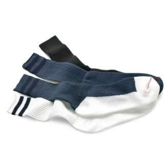 Crew Socks - Navy w/Navy Stripes - Medium
