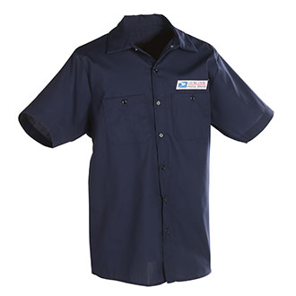 Postal Uniform Shirt Poplin Short Sleeve for Mail Handlers a